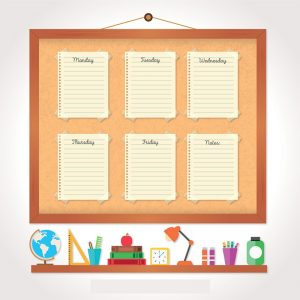 Organizzare il pomeriggio di studio